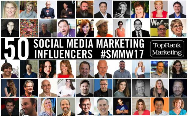 Social Media Marketing Influencers SMMW17