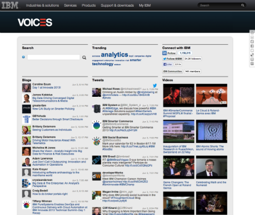 IBM Voices Social Hub