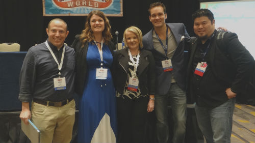 L-R: Rob Wolf, Nicole Taylor, Pam Moore, Tyler Anderson, and Eric Tung