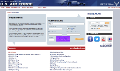 U.S. Air Force Social Hub